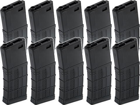 EMG / SOCOM Gear 340rd Lancer Systems Licensed L5 AWM Hi-Cap Airsoft Magazine (Color: Black / 10 Pack)