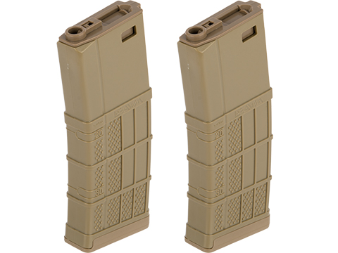 EMG 340rd Lancer Systems Licensed L5 AWM Hi-Cap Airsoft Magazine (Color: Flat Dark Earth / 2 Pack)