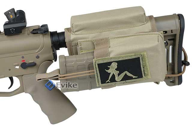 Ar 15 Stock Magazine Holder Matrix Sniper Cheek Pad w Built in MOLLE System Modular 32
