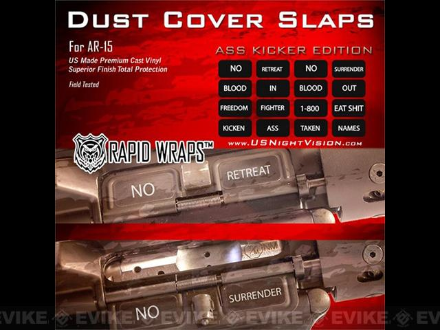 US NightVision Rapid Wraps™ Dust Cover Slaps - AR-15 (Version: A** Kicker Edition)