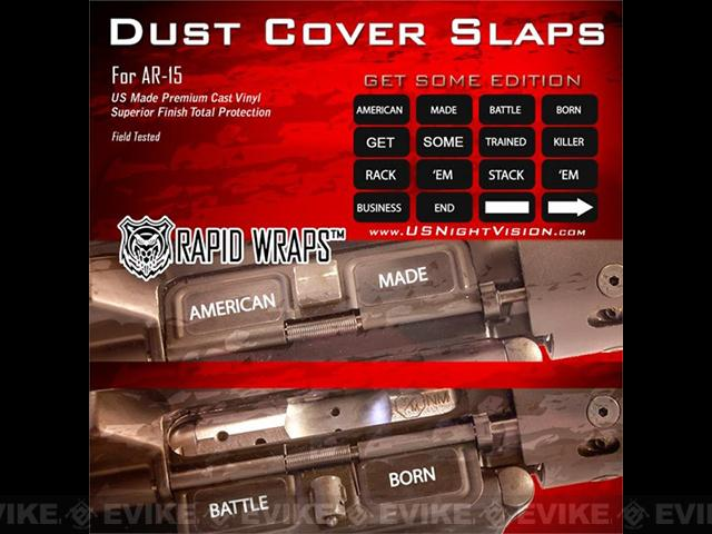 US NightVision Rapid Wraps™ Dust Cover Slaps - AR-15 (Version: Get Some Edition)