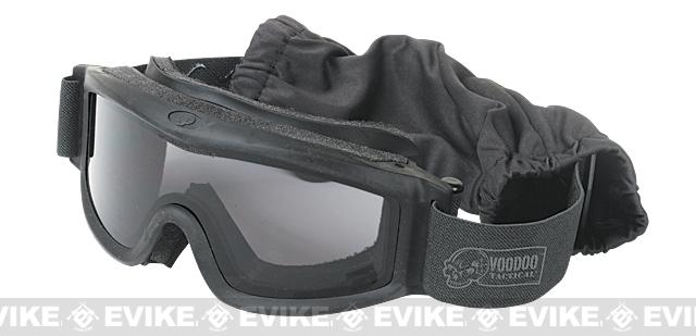 Voodoo Tactical Full Seal Tactical Goggle Kit with 3 Lenses (Color: Black)