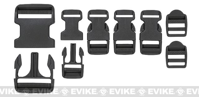 Voodoo Tactical Field Repair Buckle Kit for Vests / Plate Carriers / Harnesses - Black