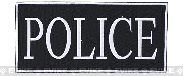 Voodoo Tactical Police Embroidered Hook and Loop Morale Patch - White (Large)