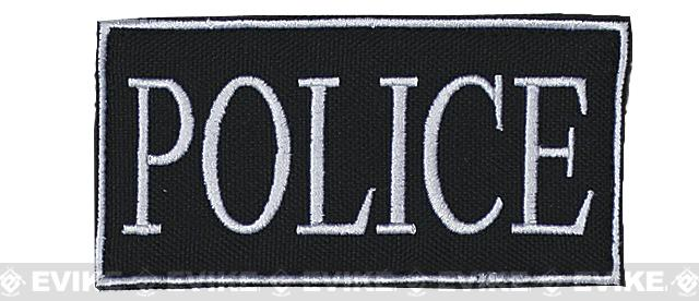 Voodoo Tactical Police Embroidered Hook and Loop Morale Patch - White (Small)