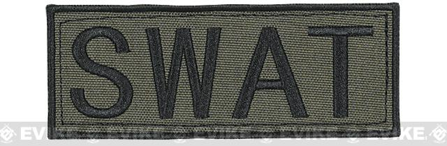 Voodoo Tactical SWAT Embroidered Hook and Loop Morale Patch - OD Green (Small)