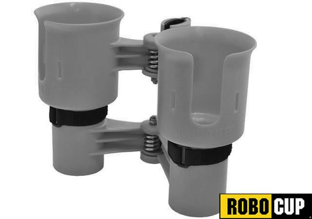 The RoboCup Portable Beverage Caddy (Color: Gray)
