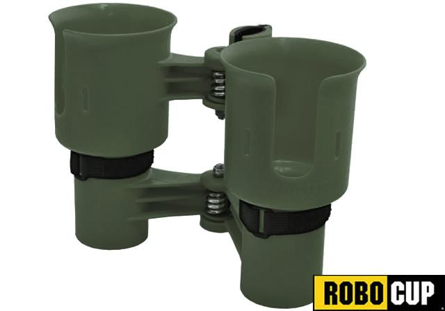 The RoboCup Portable Beverage Caddy (Color: Olive )