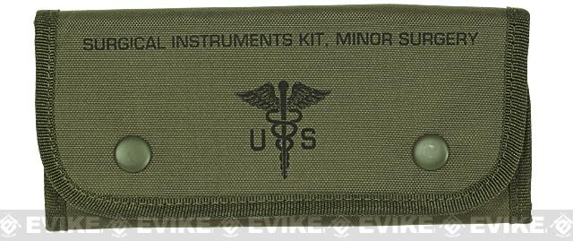 Voodoo Tactical Emergency Surgical Kit w/ Instruments & Sutures - OD Green