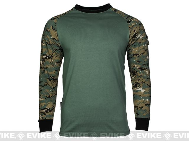 Cast Gear Tactical Combat T-Shirt - Digital Woodland (Size: Medium)