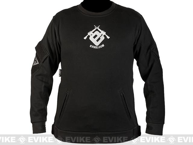 CAST Gear Evike.com Exclusive Tactical Pullover Crew Neck Sweatshirt - Black (Size: Medium)