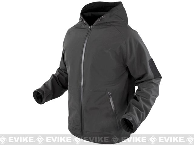 Condor Prime Softshell Hoody Jacket - Graphite (Size: Medium)