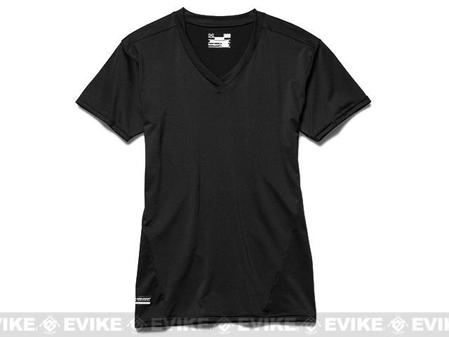 z Under Armour Men s Tactical HeatGear® Compression V-Neck T-Shirt - Black 8e25b4bce