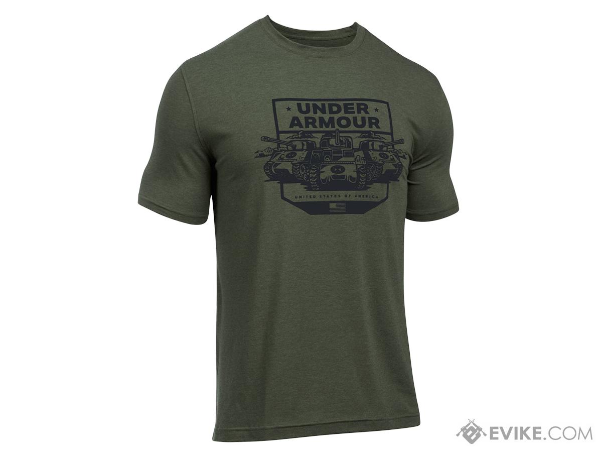 Under Armour Men's UA Freedom By Land T-Shirt - OD Green (Size: X-Large)
