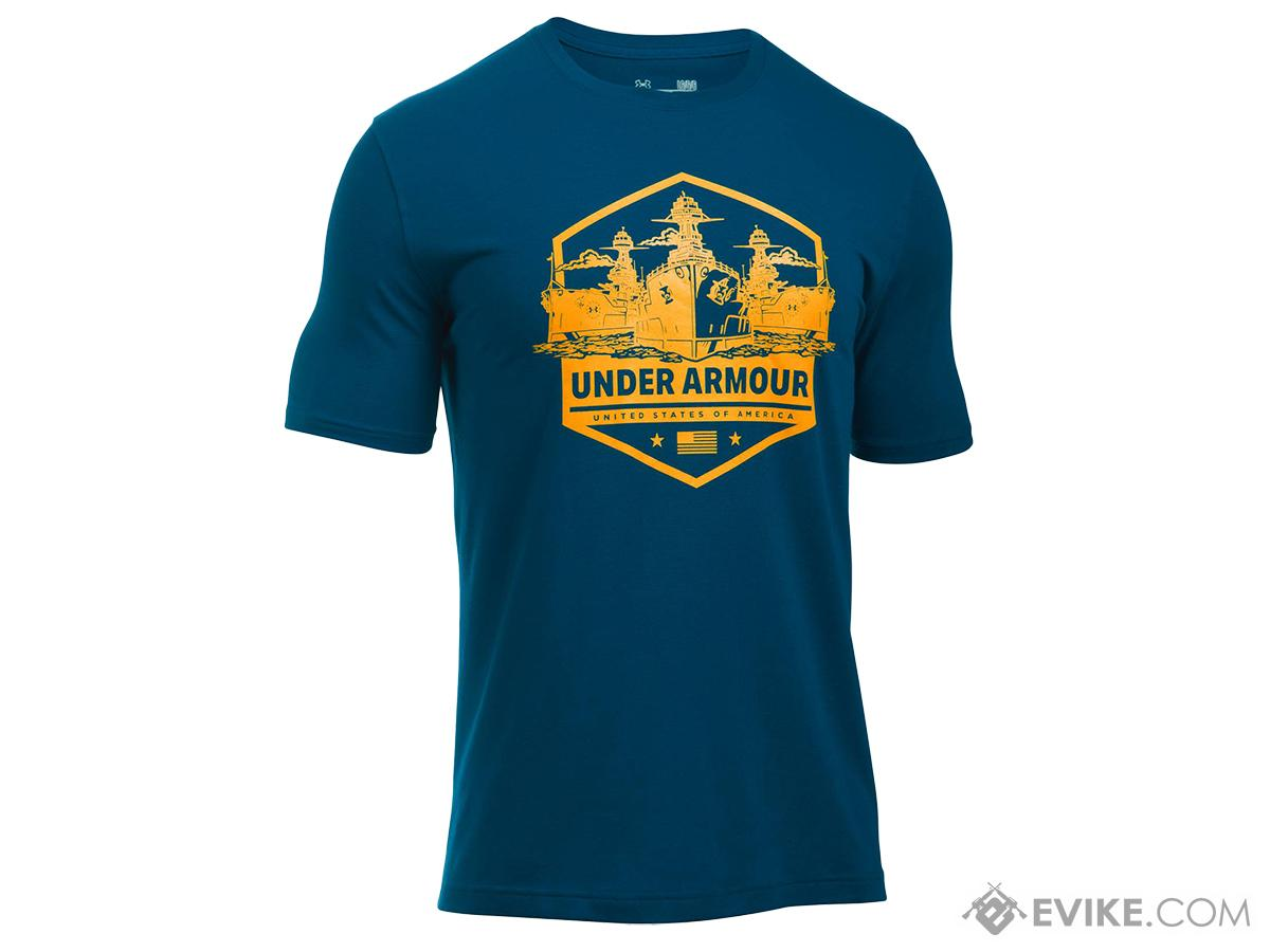 3114b80db67 Under Armour Men s UA Freedom By Sea T-Shirt - Navy (Size  Small. Hover or touch  above to zoom. Youtube preview Product image 1 ...