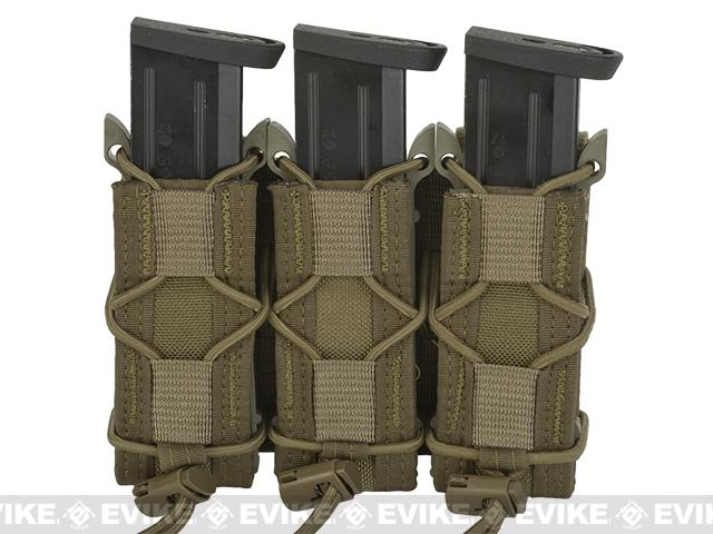 HSGI Triple Pistol TACO® Modular Single Pistol Magazine Belt Mounted Pouch - Coyote