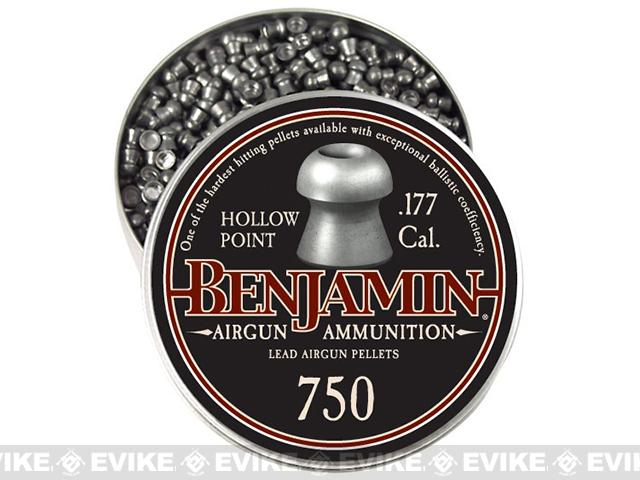 Benjamin .177 Cal. Hollow Point Pellets - 7.9 Grain - 750 Count