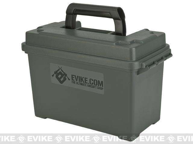 Evike.com Made in USA Molded Polypropylene Stackable Ammo Can by Plano (Size: 12 x 6 x 8)