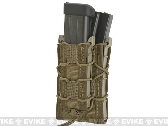 HSGI MOLLE Double Decker TACO® LT Modular Single Rifle and Pistol Magazine Pouch - Coyote Brown