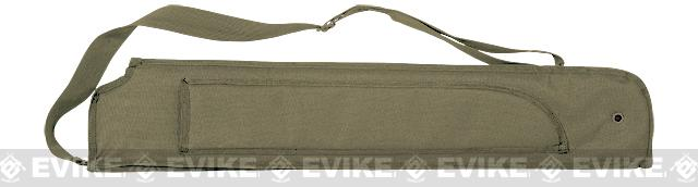 Voodoo Tactical MOLLE Shotgun Scabbard w/ Machete Sheath - Coyote Brown