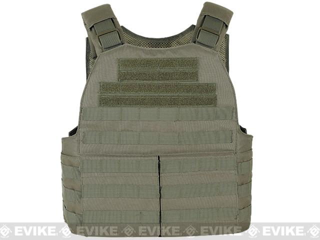 Voodoo Tactical MOLLE Hayden Plate Carrier for Soft or Hard Armor w/ Cummerbund & Hydration Carrier- OD Green