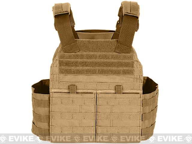 Voodoo Tactical MOLLE X-Lite Gen II Plate Carrier with MOLLE Cummerbund - Coyote Brown (Large)