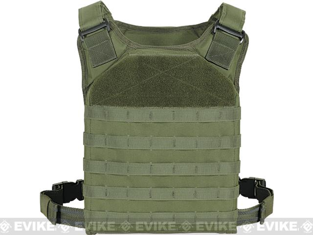 Voodoo Tactical MOLLE Hayden Plate Carrier for Soft or Hard Armor - OD Green
