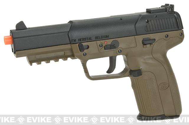 FN Herstal Five-seveN FN-57 Airsoft CO2 Gas Blowback Pistol by Marushin (Color: Dark Earth)