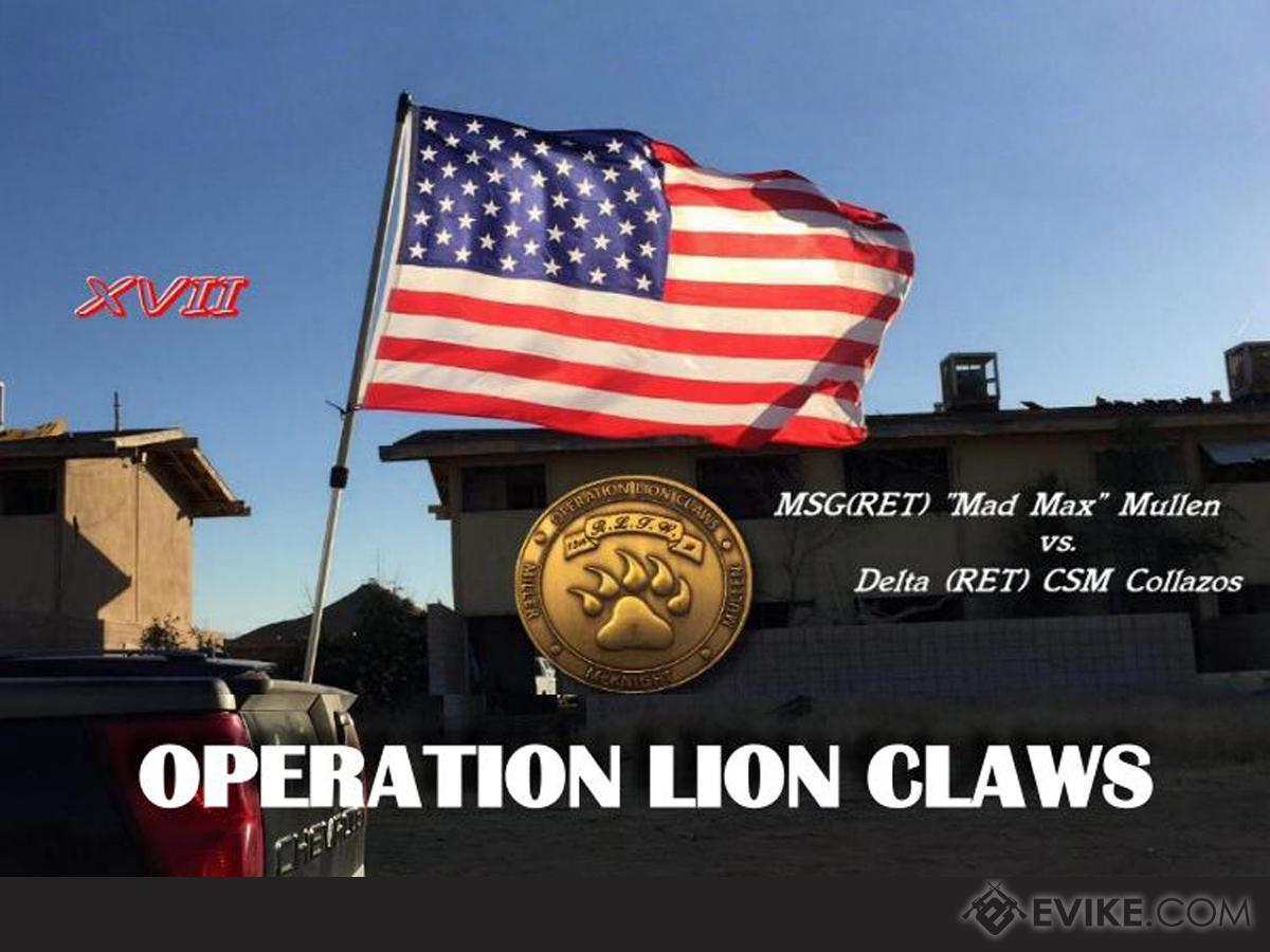 Operation Lion Claws XVII (May 25th~27th, 2018 , George Air Force Base, Victorville, California) (Force: A Company / Delta CSM Collazos)