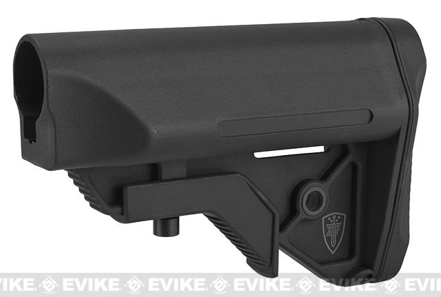 Elite Force Next-Gen CQB/CQC Crane Stock for Airsoft Rifles (Color: Black / Commercial Spec)