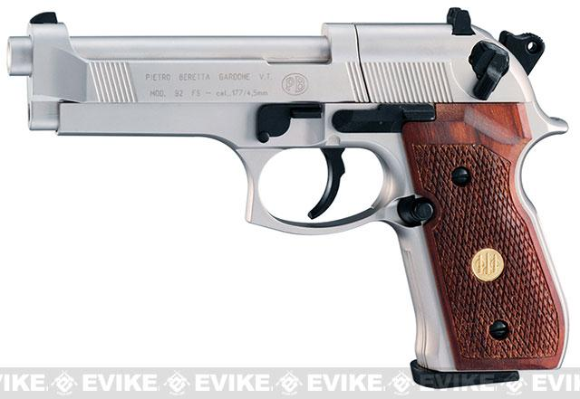 Umarex Beretta M92FS  CO2  Air Pistol - Nickel with Wood Grips (.177 cal AIRGUN NOT AIRSOFT)