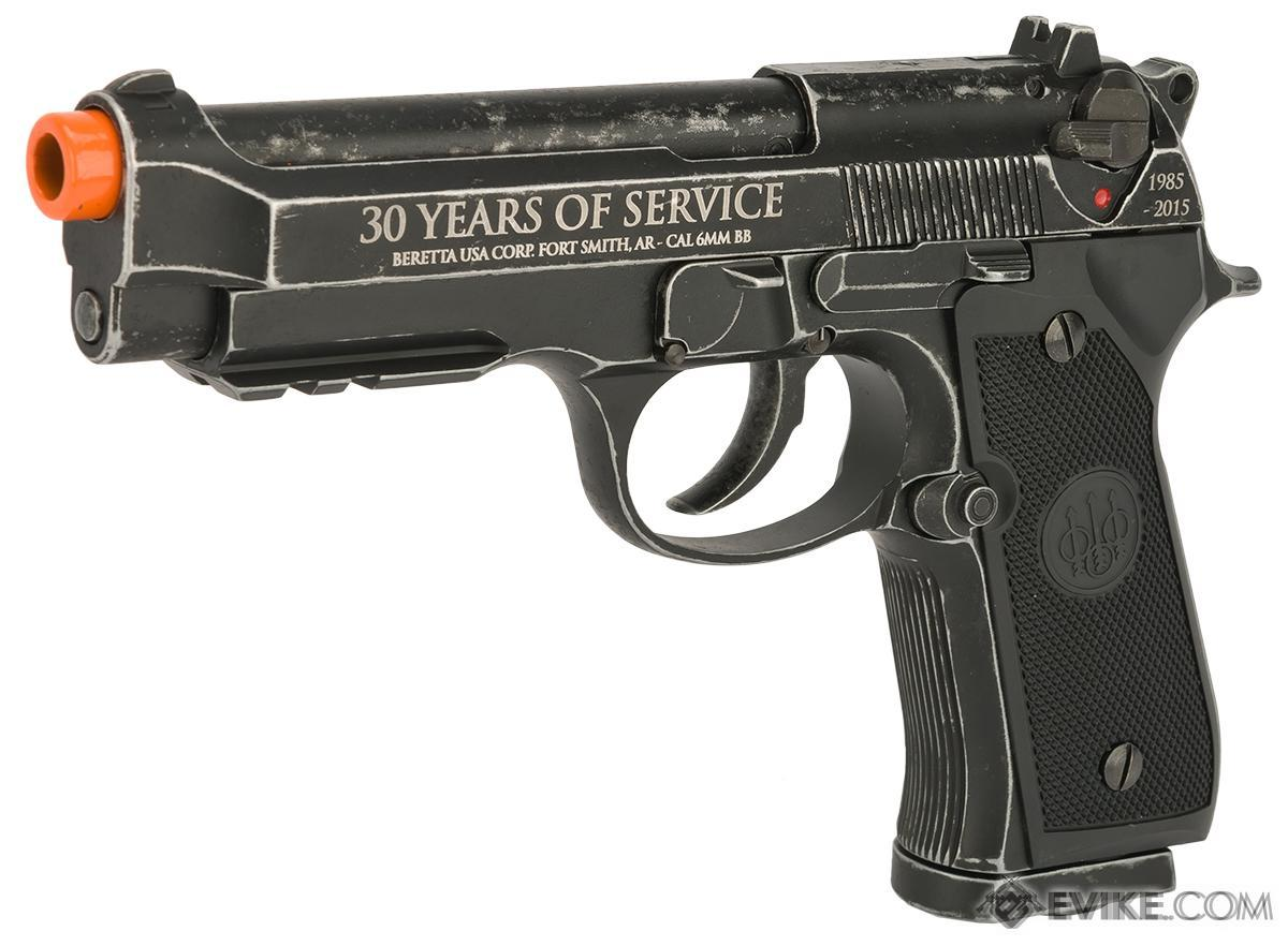 Bone Yard - Beretta 30th Anniversary Limited Edition M92 A1 Co2 Powered Blowback Airsoft Pistol by Umarex (Store Display, Non-Working Or Refurbished Models)