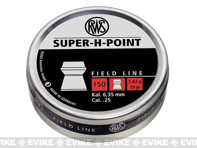 RWS Super-H .25 cal. Expanding Hollow point Pellets - 150 count