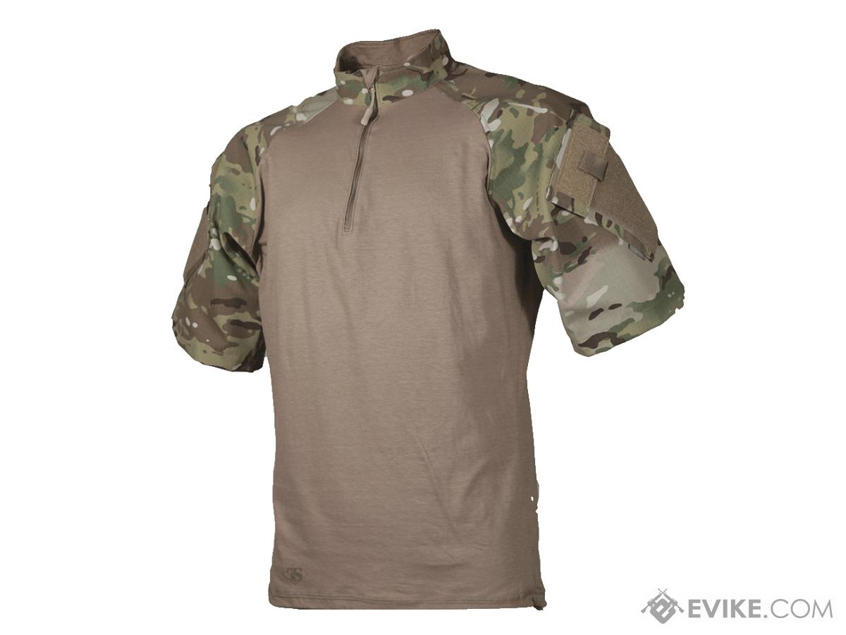 Tru-Spec Short-Sleeve Tactical Response Uniform 1/4 Zip Combat Shirt - Multicam (Size: Small)