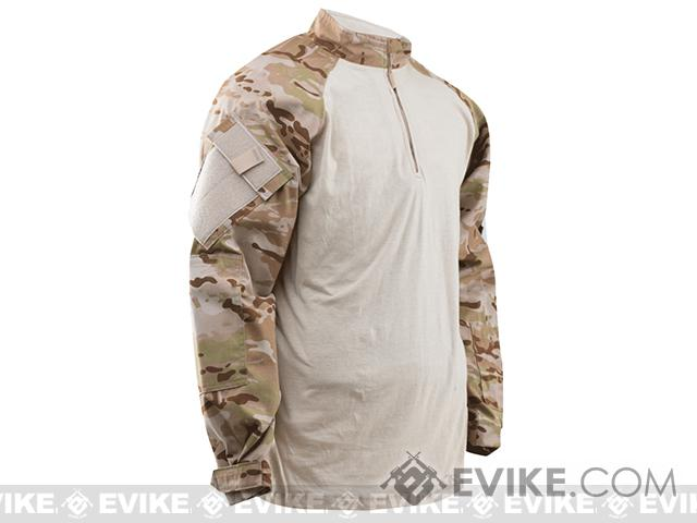 Tru-Spec Tactical Response Uniform 1/4 Zip Combat Shirt - Multicam Arid (Size: Large)