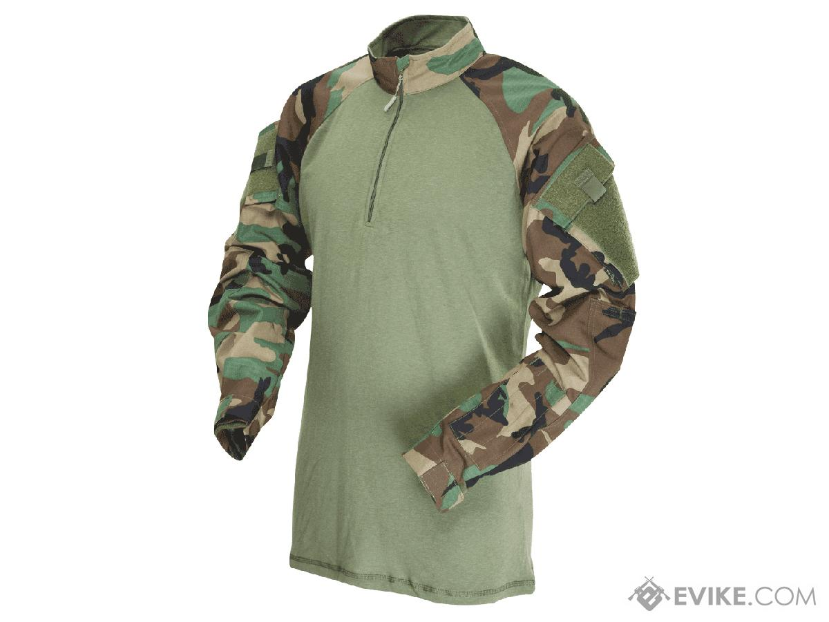 Tru-Spec Tactical Response Uniform 1/4 Zip Combat Shirt - Woodland  (Size: Large)
