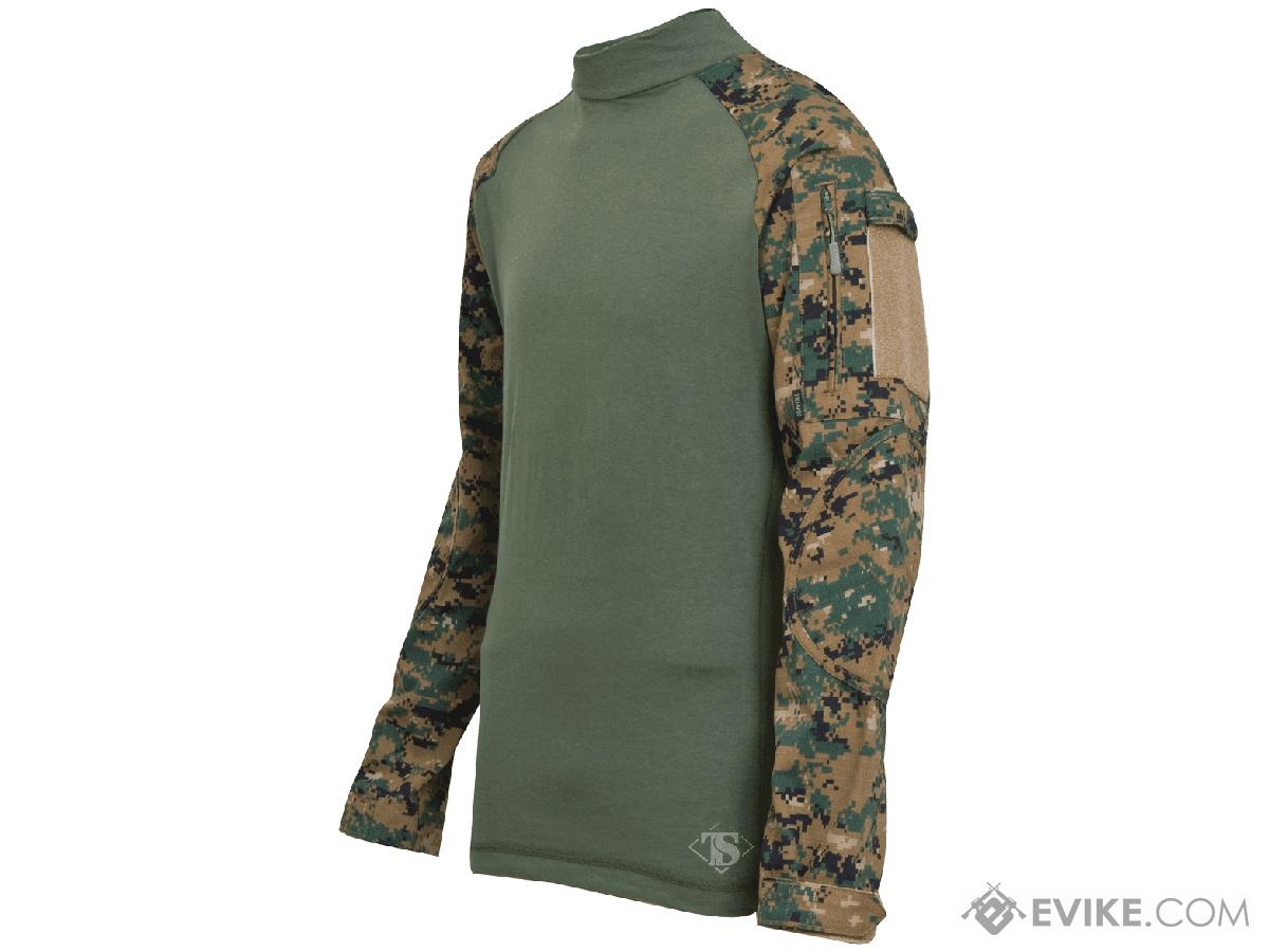 Tru-Spec Tactical Response Uniform  Combat Shirt - Digital Woodland (Size: Small)