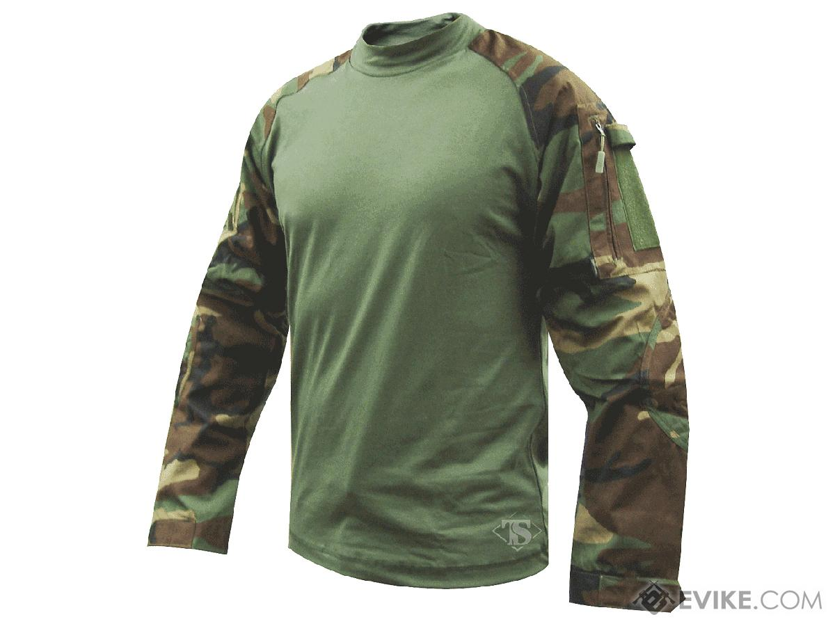 Tru-Spec Tactical Response Uniform  Combat Shirt - Woodland (Size: Medium)