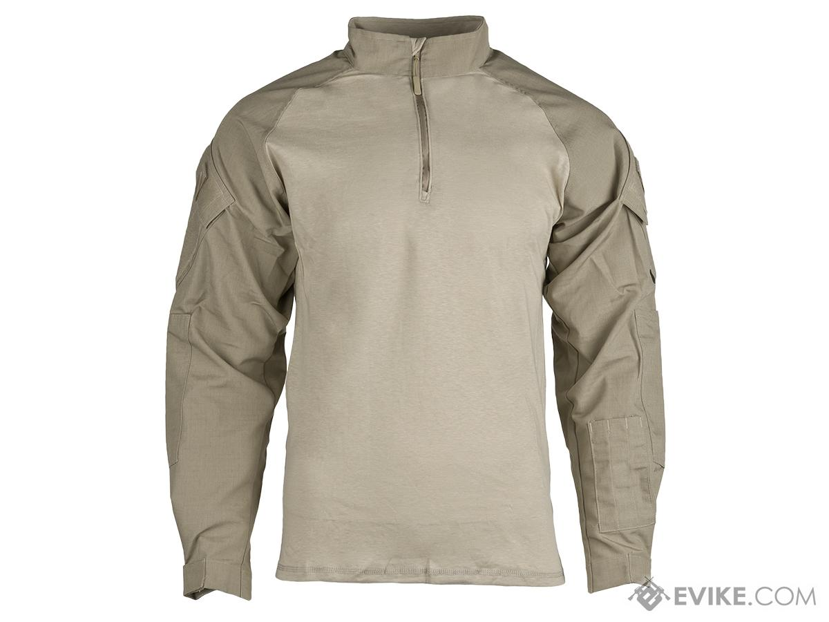 Tru-Spec Tactical Response Uniform 1/4 Zip Combat Shirt - Khaki (Size: Medium)