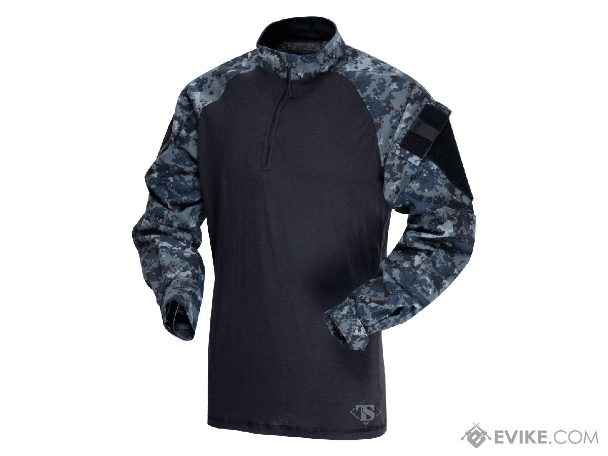 Tru-Spec Tactical Response Uniform 1/4 Zip Combat Shirt - Midnight Digital (Size: Large)