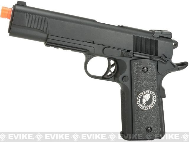 Evike.com Nostradamus Custom 1911 Gas Blowback Airsoft Pistol with Angel Custom Tac-Glove Grips (Sign: Aquarius)