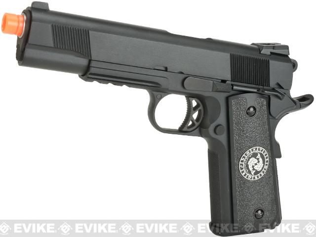 Evike.com Nostradamus Custom 1911 Gas Blowback Airsoft Pistol with Angel Custom Tac-Glove Grips (Sign: Pisces)