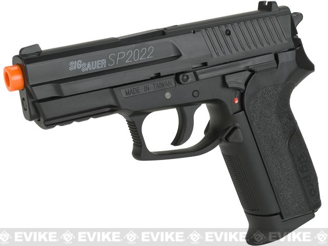 Swiss Arms Licensed Sig Sauer SP2022 CO2 Airsoft Gas Non-Blowback Pistol by KWC