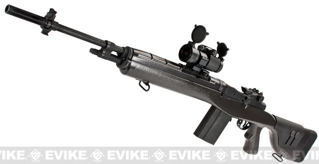 G&P M14 DMR Custom Airsoft AEG Sniper Rifle w/ Red Dot Scope (Package: Gun Metal / Gun Only)