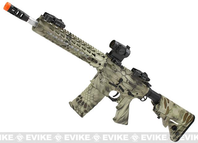 APS Silver Edge Gearbox Full Metal 10 M4 Airsoft AEG Rifle (Color: Kryptek Highlander)