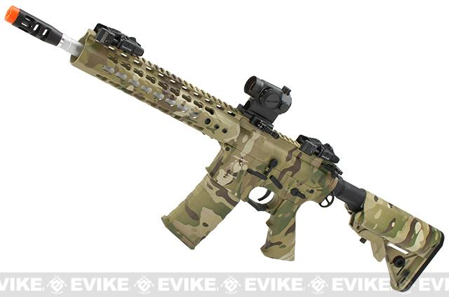 APS Silver Edge Gearbox Full Metal 10 M4 Airsoft AEG Rifle (Color: Multicam)