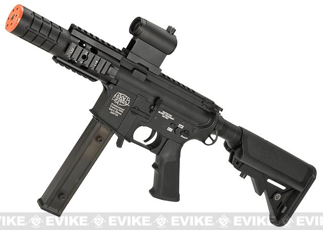 Evike Custom G&P Class I 9mm M4 Patriot Airsoft AEG Rifle (Package: Add Battery + Charger)