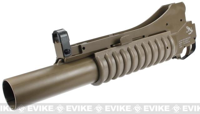 G&P Military Type M203 Grenade Launcher for M4 Series Airsoft Rifles (Color: Dark Earth / Long)