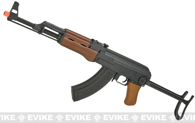 CYMA Full Metal CM042-S AK47-S Airsoft AEG Rifle with Folding Stock - Real Wood (Package: Add Battery + Charger)