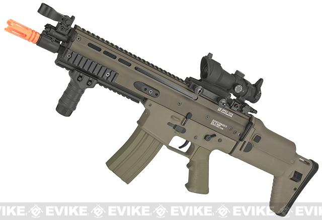 Echo1 Advanced Squad Carbine MK16 Light Airsoft AEG Rifle - Tan